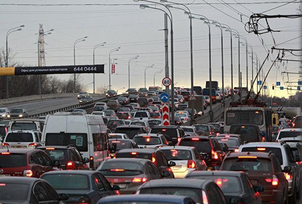 Автомобильные пробки на Ленинградском шоссе
