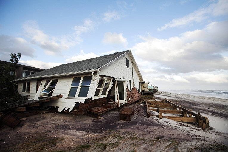 Последствия урагана «Сэнди» в Оушен Сити, Мэриленд