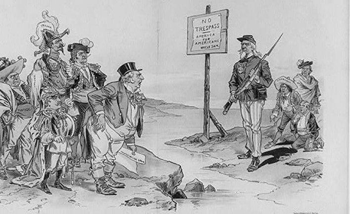 Карикатура «Доктрина Монро»