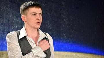 Пресс-конференция военнослужащей Надежды Савченко в Киеве
