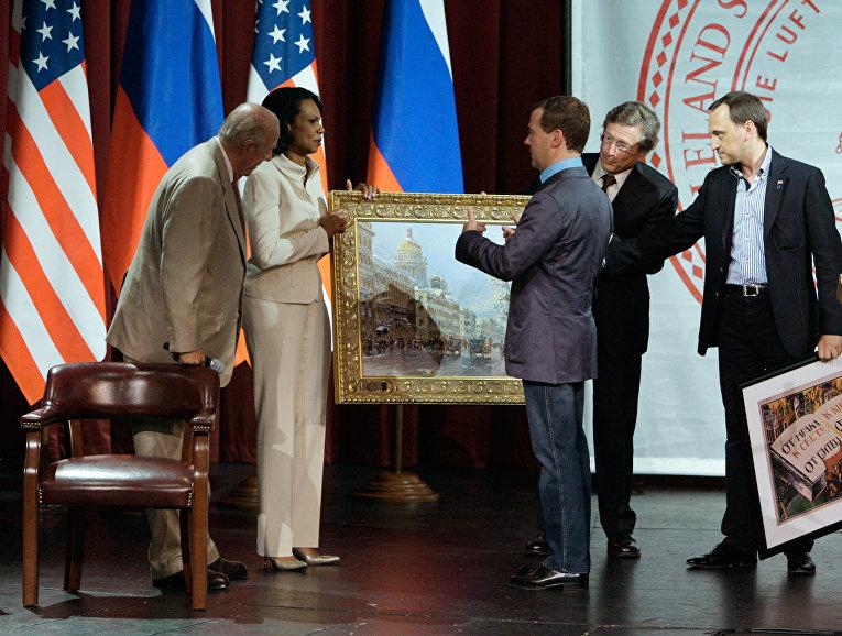 Рабочий визит Дмитрия Медведева в США. 2-й день