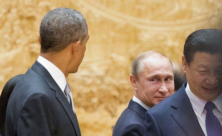 Владимир Путин, Барак Обама и Си Цзиньпин на саммите АТЭС в Пекине
