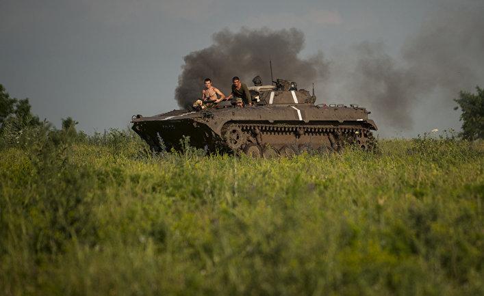 Украинские военные в деревне Крымское
