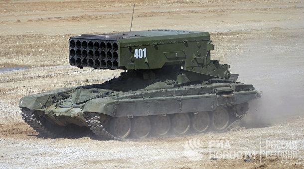 """Установка ТОС-1А """"Солнцепёк"""" на форуме """"Армия-2015"""""""