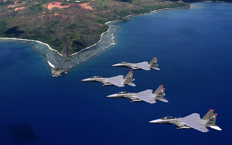 Американский истребитель-бомбардировщик F-15E «Страйк Игл»