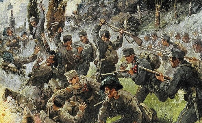 Первая мировая война. Рукопашный бой в битве при Добердо
