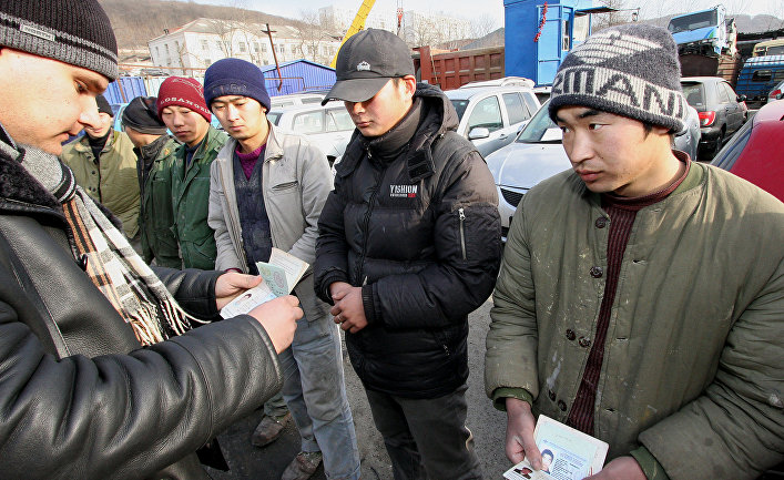 Рейд по выявлению незаконных трудовых мигрантов