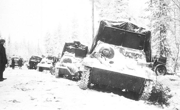 Советская техника, захваченная в плен в битве при Суомуссалми