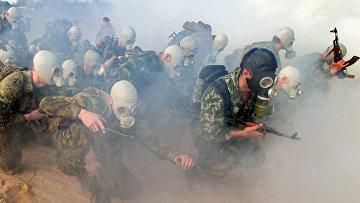 Сдача экзамена на право ношения крапового берета военнослужащими Минска
