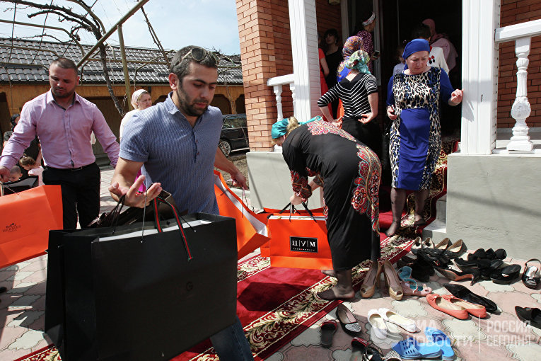 Традиционная чеченская свадьба в Грозном