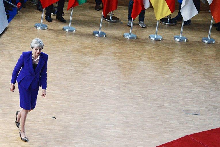 Премьер-министр Великобритании Тереза Мэй на саммите ЕС в Брюсселе. 18 октября 2018