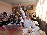Ученики восьмого класса киевской гимназии №153