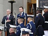 Министр обороны США Джеймс Мэттис и министр обороны Польши Мариуш Блащак
