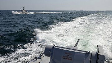 Корабли ВМФ Украины в акватории Азовского моря