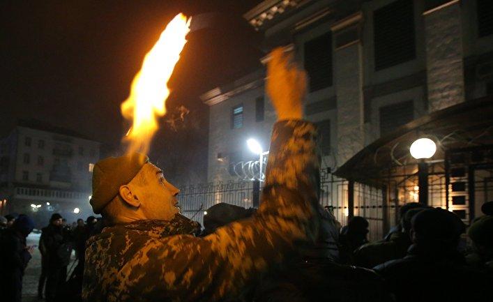 Акция у посольства РФ в Киеве