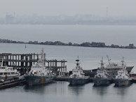 Украинские катера береговой охраны в порту Одессы