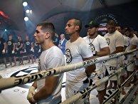 Участники международного турнира по боевому самбо «Плотформа S-70»
