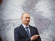 Рабочая поездка В.Путина в Санкт-Петербург