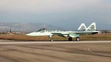 Новейший истребитель пятого поколения Су-57 в Сирии