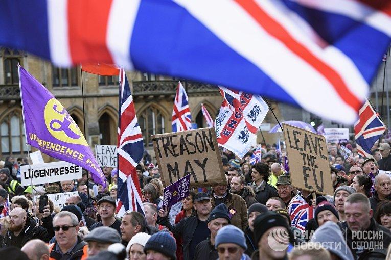 Акция в поддержку Brexit в Лондоне
