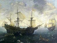 Испанская армада у английского побережья