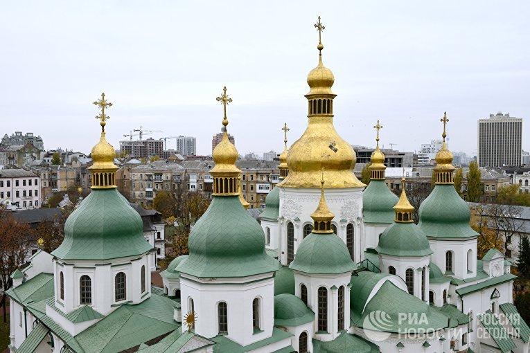 Купола Софийского собора в Киеве