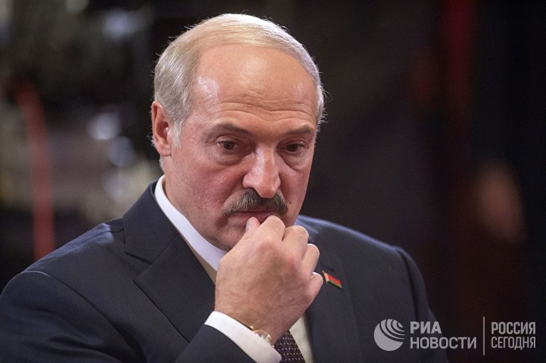 Президент Белоруссии Александр Лукашенко на неформальной встрече глав стран-участников ОДКБ в Кремле