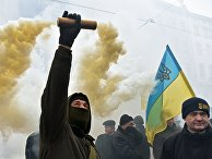 Акция протеста во Львове
