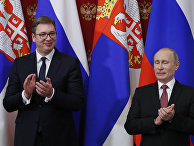 Президент РФ Владимир Путин и президент республики Сербии Александр Вучич