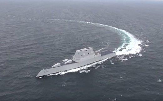 США спустили на воду эсминец будущего