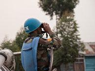 Миротворец ООН в Демократической Республики Конго