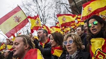 Митинг за единство Испании в Мадриде
