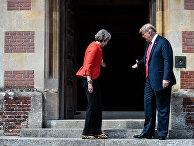 Президент США Дональд Трамп и премьер-министр Великобритании Тереза Мэй