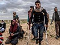 Мужчины, которых подозревают втом, что они сражались врядах ИГИЛ (запрещена вРФ) вСирии
