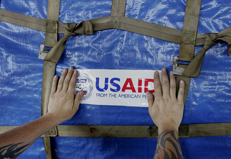 Отправка помощи USAID в Мьянму после разрушительного циклона «Наргис»