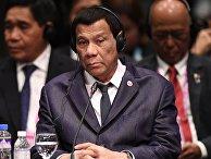 Президент Филиппин Родриго Дутерте на саммите Россия-АСЕАН в Сингапуре