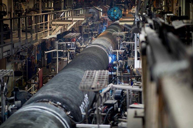 Подготовка труб для газопровода «Северный поток - 2»