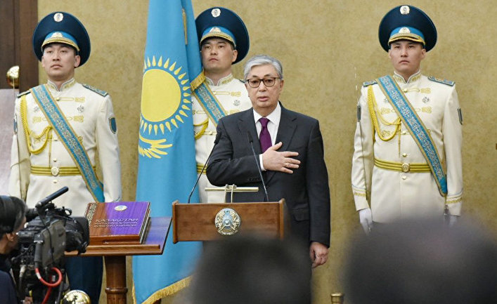 Председатель Сената Парламента Казахстана Касым-Жомарт Токаев