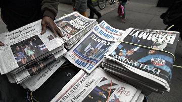 Газетный киоск в Нью-Йорке
