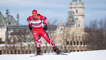 Россиянин Александр Большунов в финале Кубка мира