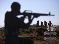 Израильские солдаты на Голанских высотах