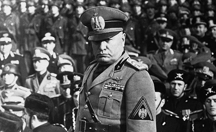 Итальянский диктатор Бенито Муссолини в Риме