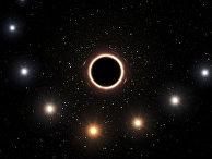 Иллюстрация пути звезды S2 мимо сверхмассивной черной дыры
