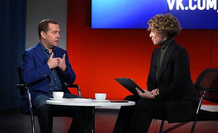 Премьер-министр РФ Д. Медведев посетил офис компании Mail.ru Group