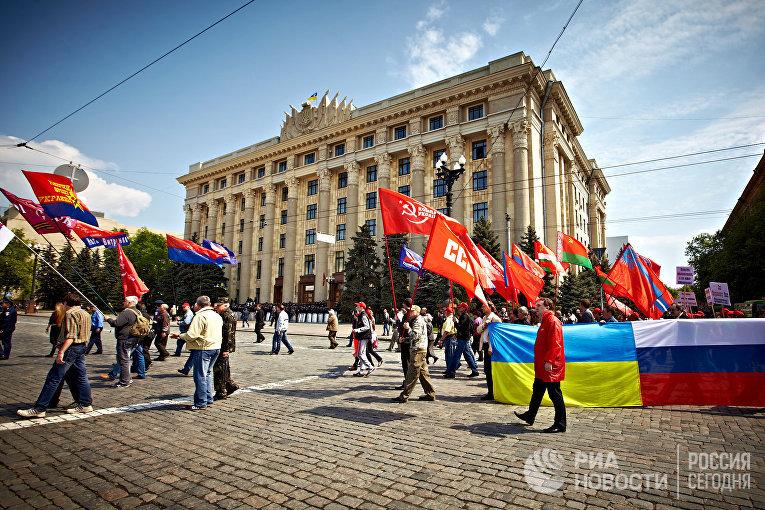 Шествия и митинги в честь Первомая на Украине
