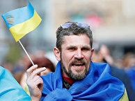 Сторонник Петра Порошенко перед вторым туром выборов на Украине