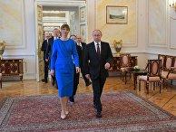 Президент РФ В. Путин встретился с президентом Эстонии К. Кальюлайд