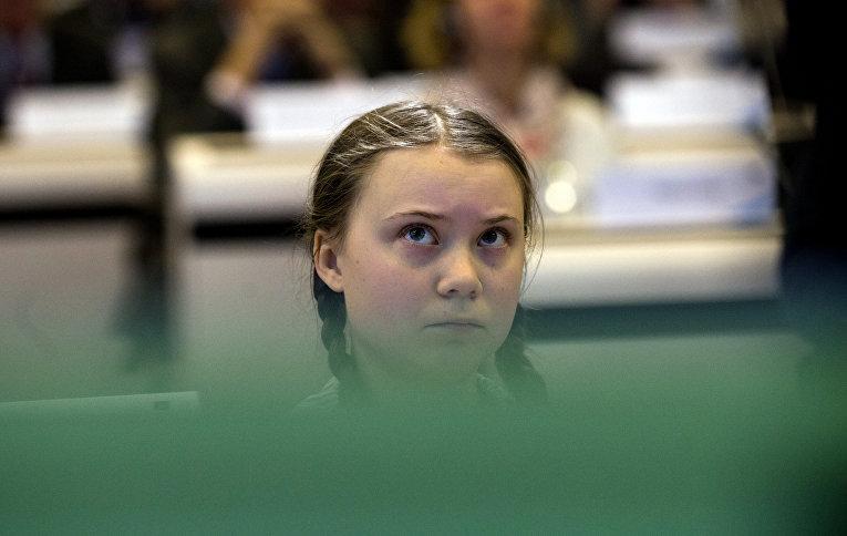 Экологический активист Грета Тунберг, Швеция