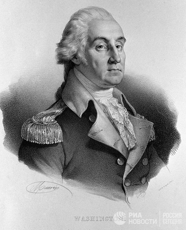 Репродукция портрета генерала Джорджа Вашингтона