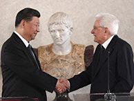 Председатель КНР Си Цзиньпин и президент Италии Серджио Маттарелле